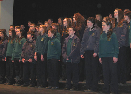 The School Choir from St Finian's College who were very highly commended at Dublin's Feis Ceoil.
